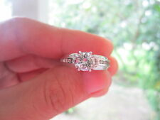 1.14 Carat Diamond White Gold Engagement Ring 14K sepvergara