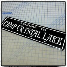"""Welcome To Camp Crystal Lake (Friday the 13th) 6""""x24"""" Aluminum Sign"""