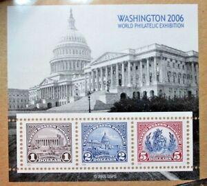 Souvenir Stamp Sheet MNH Pane of 3 #4075 WASHINGTON PHILATELIC EXPO 2006 SEALED