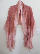 "NEW ""Handmade"" TieDyed Silk Blend EXTRAORDINARY Shawl / Scarf, Shades of PINK"