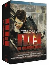 MISSION IMPOSSIBLE - COFFRET 4 BLU-RAY - TOM CRUISE - FILMS 1 à 4 -  ACTION