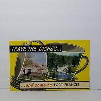 Vintage Postcard Fort Frances Canada 1965