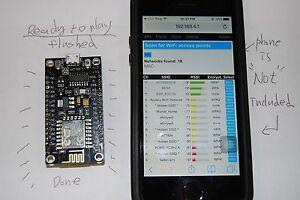 Ready To GO + Deauther WIFI NodeMCU Lua ESP8266 ESP-12E CH340G  - Flashed