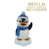 "Winter Penguin Figurine Mini Statue Madagascar Penguin Collectible 7"""