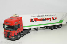 TEKNO SCANIA 124L 124 L TRUCK WITH FRIDGE TRAILER WEZENBERG NEAR MINT CONDITION.