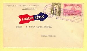 Honduras= First flight cover, Honduras Airplane San Pedro Sula- Tegucigalpa RARE