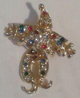 JJ Jonette Vintage Clown Brooch Pin Articulated Wobble Head