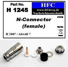 1 Pieza N hembra para H 2007/Aircell 7/Alta flex 7 Cable coaxial 50 Ω H1245