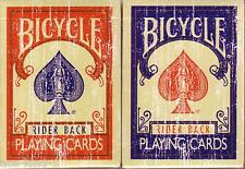 2 decks Bicycle LIMITED red blue FADED playing cards