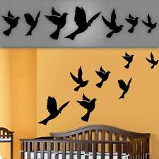 """Flying Birds Wall Decals, Nursery Wall Stickers, Dove Decals - 6-14"""""""