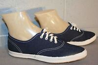 5 NOS Vtg 70s LaCrosse  SKAMPS NAVY BLUE DENIM CANVAS SNEAKER TENNIS Gym Shoe