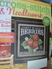 Cross Stitch & Needlework Magazine May 2013-Iris Bench Pt 2/Berries/Pears/Rose S