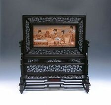 *Ship From U.S* Authentic Solid Rosewood ZITAN Wood Screen w/ Sandalwood Center