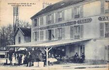 CPA 91 SAVIGNY SUR ORGE CAFE HOTEL DE LA GARE
