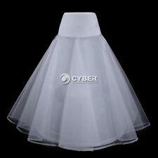 New White Wedding Bridal Dress 1 Hoop A-Line petticoat Crinoline Slip Underdress
