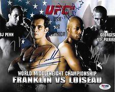 Georges St-Pierre BJ Penn Rich Franklin +1 Signed UFC 58 8x10 Photo PSA/DNA COA