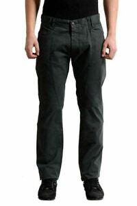 Ermanno Scervino Men's Dark Green Casual Pants US 34 IT 50