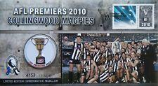 2010 Australia Collingwood Magpies, AFL Premiers, Limited Ed Medallion in PNC
