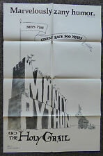 MONTY PYTHON AND THE HOLY GRAIL 1975 ORIGINAL 1 SHEET MOVIE POSTER JOHN CLEESE