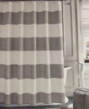Tommy Hilfiger Grey Cabana Stripe Seersucker Fabric Shower Curtain