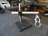 """14"""" Microscope Stand w/ 18"""" Arm & Nikon Mount 10""""x10"""" Heavy Base"""