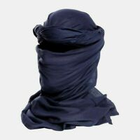 Chèche coton bleu marine état neuf  / chech chèch shèch foulard écharpe