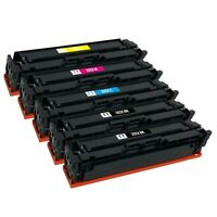 5 x 202X Toner Cartridge for HP CF500X CF501X CF502X CF503X M254dw MFP M281fdw