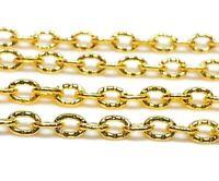 300cm Metallkette Gold Oval ring 4mm Schmuckkette für Halskette Armband  K13