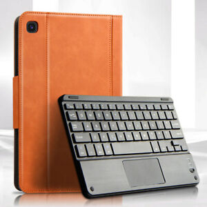 For Samsung Galaxy Tab S6 Lite SM-P610 P615 Keyboard + Flip Leather Case Cover