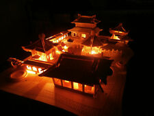 3d Wooden Puzzle Chinese House (Suzhou Gardens) Model with 12 Yellow Light