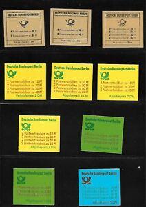 Lot Berlin Markenheftchen  6 bis 15 komplett postfrisch