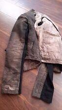 NWOT DK Shadow RICK OWENS Brown Jean Cotton Zip Up Jacket Cotton Panel Sleeve P