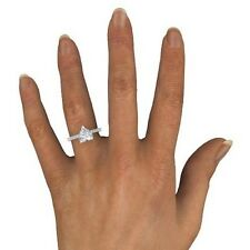 1.75 CT NATURAL HEART  E/SI2   ENHANCED DIAMOND SOLITAIRE ENGAGEMENT RING 18K WG