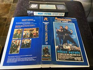 Rare 1984 R Rated Linda Blair NIGHT PATROL VHS Ex Rental Roadshow Home Video