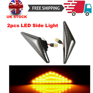 2pcs Dynamic LED Side Light Indicators Repeater For Ford Focus Mk1 Mondeo 00-06