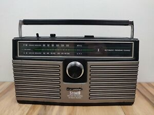 Vintage Panasonic Stereo RS-836S AM FM 8 Track Player Boombox - Tested, Works