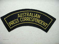 INSIGNE BADGE AUSTRALIE AUSTRALIAN PRESS CORRESPONDENT