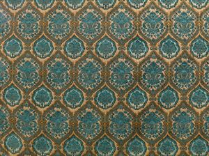 "Chenille Upholstery Marina Morocco Damask Drapery home fabric by yard 54"" Wide"