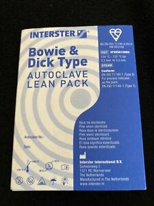 Interster Bowie & Dick Type Autoclave Lean Pack - Brand New Sealed
