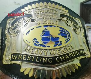 Unified World Heavyweight Championship Belt 4mm Zinc Dual Gold Plated