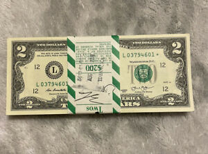 $2.00 Bill STAR NOTES 100 Consecutive Numbers $200