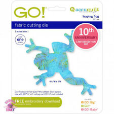 Accuquilt GO! Fabric Cutting Die Leaping Frog 10th Anniversary Quilting 55199