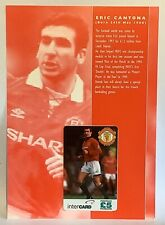 Manchester United Phone Card Collection 1996 Intercard Eric Cantona