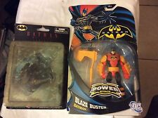lot of 2 batman action figure kotobukiya mini-figures series 1/blaze buster