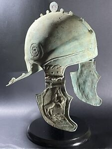 INTACT ROMAN BRONZE MILITARY LEGIONNAIRE BATTLE HELMET - CIRCA 100BC - 200AD