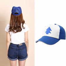 2018 Dipper Gravity Falls Cartoon Curved Bill 'BLUE PINE TREE' Hat Cap Trucker