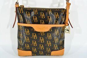 Dooney & Bourke Crossbody Nylon and Leather Messenger Bag Signature 1975