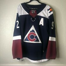 Nathan MacKinnon Colorado Avalanche Alternate Player Adidas Jersey  Navy Size 50
