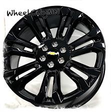 24 Inch Gloss Black 2017 Chevy Silverado Suburban Oe Replica Wheels 6x55 30