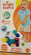 BNIP Bright Starts Get Rollin Jet Popper 2 Ways to Play Fun Push Toy Walker